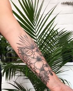 Tropical tattoo sleeve – tattoos for women half sleeve Tropical Flower Tattoos, Floral Back Tattoos, Tattoo Floral, Tattoos For Women Half Sleeve, Shoulder Tattoos For Women, Hirsch Tattoo Frau, Lower Belly Tattoos, Upper Thigh Tattoos, Stomach Tattoos