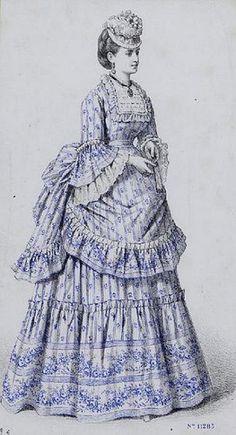 Day dress - circa 1872