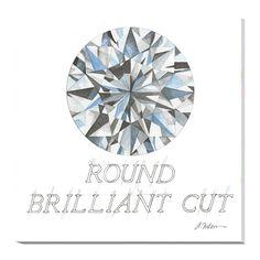 Round Brilliant Cut Diamond printed on Canvas