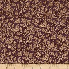 "Designed by Whistler Studios for Windham Fabrics, this 108"" wide quilt backing is perfect for quilt backing, duvets, light curtains and more! Colors include burgundy and tan."