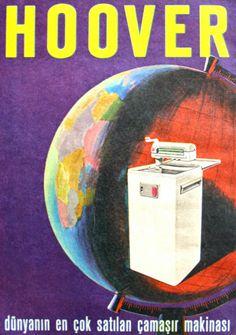 OĞUZ TOPOĞLU : hoover çamaşır makinesi 1964 nostaljik eski reklam...