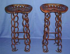 horseshoe art | Western Decor Horseshoe Furniture