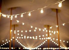 Bistro Lights Wedding (for evening? under the awening?)
