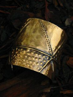 Fold Formed Wide Brass Cuff by jujuandjules on Etsy, $55.00