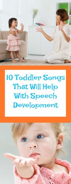 10 MORE Toddler Songs to Help with Language Development Toddler Songs That Will Help With Speech Development–The Organized Mom - Baby Development Tips Toddler Language Development, Baby Development, Toddler Learning Activities, Kids Learning, Therapy Activities, Kid Activites, Cognitive Activities, Speech Activities, Therapy Ideas