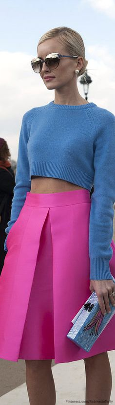 Street Style | PFW-love the colors together-couldn't show my tummy, but love the colors