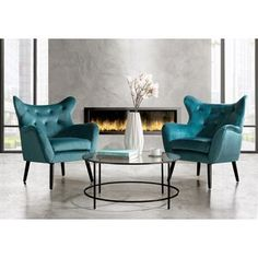 Bouck Wingback Chair   Joss & Main Navy Furniture, Joss And Main, Living Room Chairs, Wingback Chair, Accent Chairs, Layout, Home Decor, Upholstered Chairs, Decoration Home