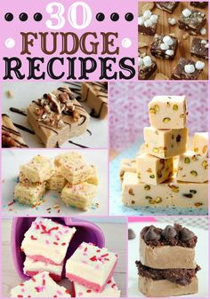30+ Fudge Recipes -