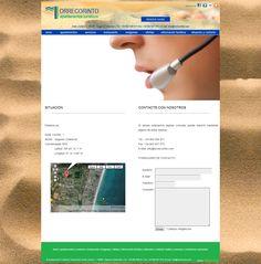 Web Apartamentos Turísticos Torrecorinto - Situación y Contacto. Versión 2012-14 #diseñoweb #paginasweb #DiseñadorWebValencia #DiseñadorWeb