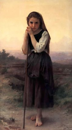 William-Adolphe Bouguereau | William Adolphe Bouguereau  Pastorella | (olio, opera darte ...