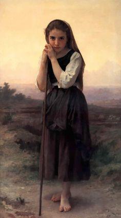 the bohemian william adolphe bouguereau | William Adolphe Bouguereau >> Pastorcilla | (oleo, obra de arte ...