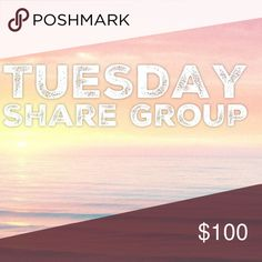 """1/31 Tuesday Share Group Sign up closes at 2pm est💞Tag your name to sign up💞Write """"new"""" if you're new💞Share 10 for sale items from everyone who signs up💞No sharing until 8am est. Share by midnight your time💞Share to your followers, NOT to parties💞Be Posh compliant or you may be skipped💞Mark your spot with ***and first 3 letters of where you left off💞Sign out when done💞 Be fair and do your part or you will be blocked💞Please only ask questions in the Q&A listing under """"other.""""💞No…"""