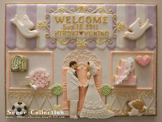 Stunning Wedding Board Cookie, by JILL's Sugar Collection