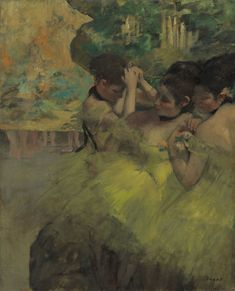 Edgar Degas French, 1834-1917, Yellow Dancers (In the Wings)