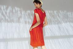 Orange vitaminé...la robe en maille coton/cachemire