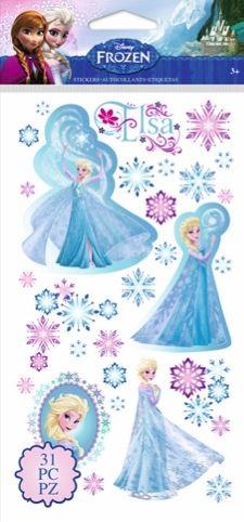 Elsa Frozen Disney Scrapbooking Stickers