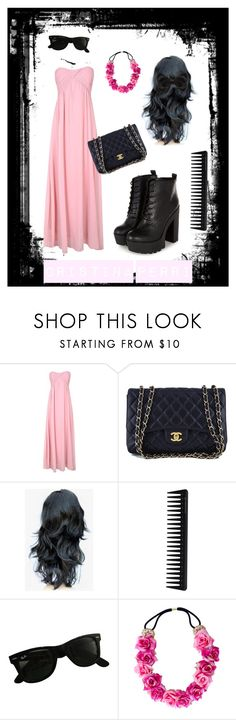 """Christina Perri"" by rawr996 ❤ liked on Polyvore featuring Alice & You, Chanel, GHD, Ray-Ban and New Look"