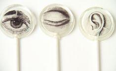 Body Part Halloween Lollipops Set of 6 Flat Round by sweetniks