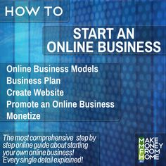 The most comprehensive step by step guide about starting your own online business. Every single detail explained!