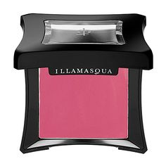 Illamasqua Cream Blusher in Laid. Very smooth and easy to blend and just the right pop of color. Not as pink on as it looks in the pan.