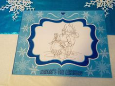 Disney Frozen Birthday Party Ideas. Coloring Page Placemats www.Facebook.com/ZoleesBoutique