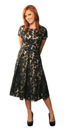 "Im so glad Im LDS -  Mikarose Women's ""Renee"" Modest Dress, M, Black Lace / http://mormonfavorites.com/mikarose-womens-renee-modest-dress-m-black-lace/"