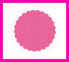 Bright Pink Scalloped Circles Die Cuts Set of 25 by NanaLetha, $2.50