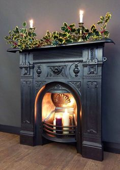 Most up-to-date Images christmas Fireplace Inserts Popular Planning to bring a cozy contact to your home? Consider acquiring a hearth that may warmth anyone through to c. Cast Iron Fireplace Insert, Fireplace Inserts, Library Fireplace, Brick Fireplace, Fireplaces For Sale, Antique Door Knockers, Reclaimed Building Materials, Chimney Breast, Christmas Fireplace