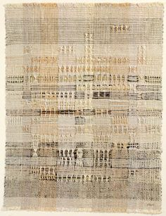 Anni Albers -- Development in Rose I, 1952.   Cotton and hemp complex leno weave. JAAF: 1996.12.2;  55.9 x 43.2 cm (22 x 17 inches) __   ©2007 The Josef and Anni Albers Foundation / Artists Rights Society (ARS), New York