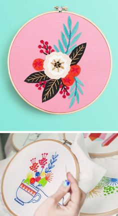 Try embroidery today! #hoopart #embroidery