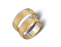14 ct White and Yellow Gold / Białe z Żółtym Złotem / Najlepsze ręcznie robione obrączki znajdziecie na : http://www.jubiler-ejankowski.com/