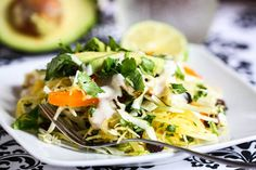 Southwestern Chicken and Spaghetti Squash Salad - this looks really good and really healthy