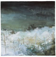Dark sky, soft snow, Dartmoor                    ...        … Landscape Artwork, Abstract Landscape Painting, Seascape Paintings, Watercolor Landscape, Watercolor Paintings, Abstract Art, Watercolor Artists, Indian Paintings, Oil Paintings