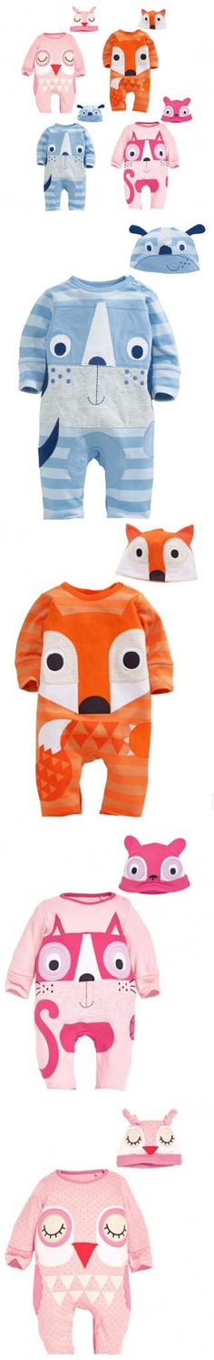 New Animal Baby Rompers Newborn Baby Girl Clothes Cute Cartoon Fox Baby Boy Rompers Uniex Baby Costume And Hat
