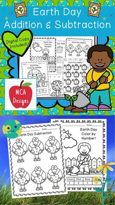 This product features various worksheets and activities to help your students practice their basic addition and subtraction facts through 20. Each worksheet is accented with various Earth Day themed graphics! This product includes both a print and DIGITAL copy. The digital copy is great for DISTANCE LEARNING! #teacherspayteachers #tpt #earthday Teaching Schools, Teaching Kids, Too Cool For School, School Stuff, Addition And Subtraction Practice, 2nd Grade Activities, Math Workshop, Elementary Education, Math Resources