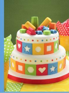 Torta juego didactico #cumpleaños #bautismo #nacimiento #bebe #niños Descarga este patron con el paso a paso  en www.eviadigital.com
