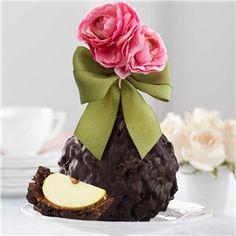 Dark Chocolate Delight Pink Posey Jumbo Caramel Apple Gift