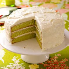 Tricia Yearwood's Key Lime Cake... made this several times, refreshing and good...