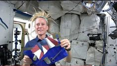 NASA astronaut Karen Nyberg hosts quilting bee from space station