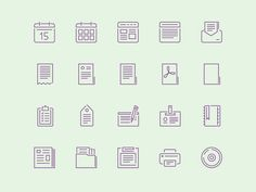 A set including 100 vector shaped stroke icons. Free AI file released by Igor Petrov.