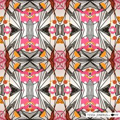 caleidoscopic pattern 2 - artwork by Tessa Jongerius and Madame Fourmilion