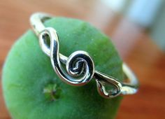 Sterling silver TREBLE CLEF handcrafted ring by Almendro on Etsy, $42.00