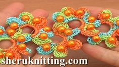 Crochet lace with beads http://sheruknitting.com/tutorials/crochet-lace/item/827-how-to-crochet-lace-with-beads-tutorial-19-part-1-of-2.html http://sheruknitting.com/tutorials/crochet-lace/item/828-crochet-summer-lace-with-beads-tutorial-19-part-2-of-2.html In this crochet lace video tutorial I will be showing you how to crochet lace with beads.