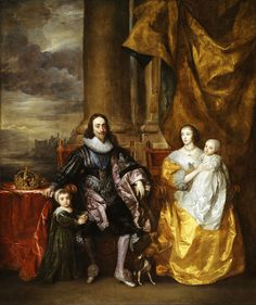 Charles I and Henrietta Maria with their two eldest children, Prince Charles and Princess Mary | by lluisribesmateu1969
