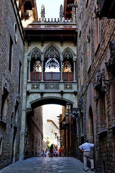 Bari Gothic district Barcelona Spain