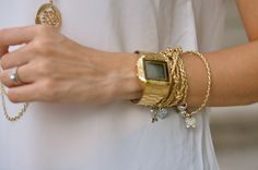 frism: q'd ▲▼ Cute Jewelry, Casio Watch, Her Style, Gold Watch, Dress Up, Bling, Rose Gold, Watches, Elegant