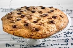A simple Giant chocolate chip cookie recipe for you to cook a great meal for family or friends. Buy the ingredients for our Giant chocolate chip cookie recipe from Tesco today. Giant Chocolate, Chocolate Chip Cookies, Giant Cookie Recipes, Giant Cookies, Bigger Bolder Baking, Tesco Real Food, Galletas Cookies, Man Food, Recipe Images