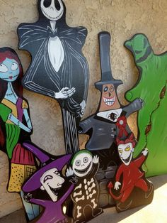 Hey, I found this really awesome Etsy listing at https://www.etsy.com/listing/229757435/nightmare-before-christmas-lawn-cutouts