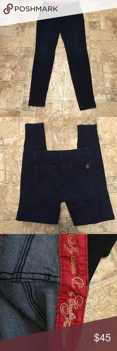 """Oprah's Favorite Jeans-Cookie Johnson Joy legging Fabulous fit! Oprah says these are her favorite jeans! Great condition. Ultra dark indigo wash. 30.5"""" inseam. Cookie Johnson Jeans Skinny"""
