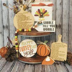 Happy Turkey Day Happy Thanksgiving Tiered Tray SVG File DIY | Etsy